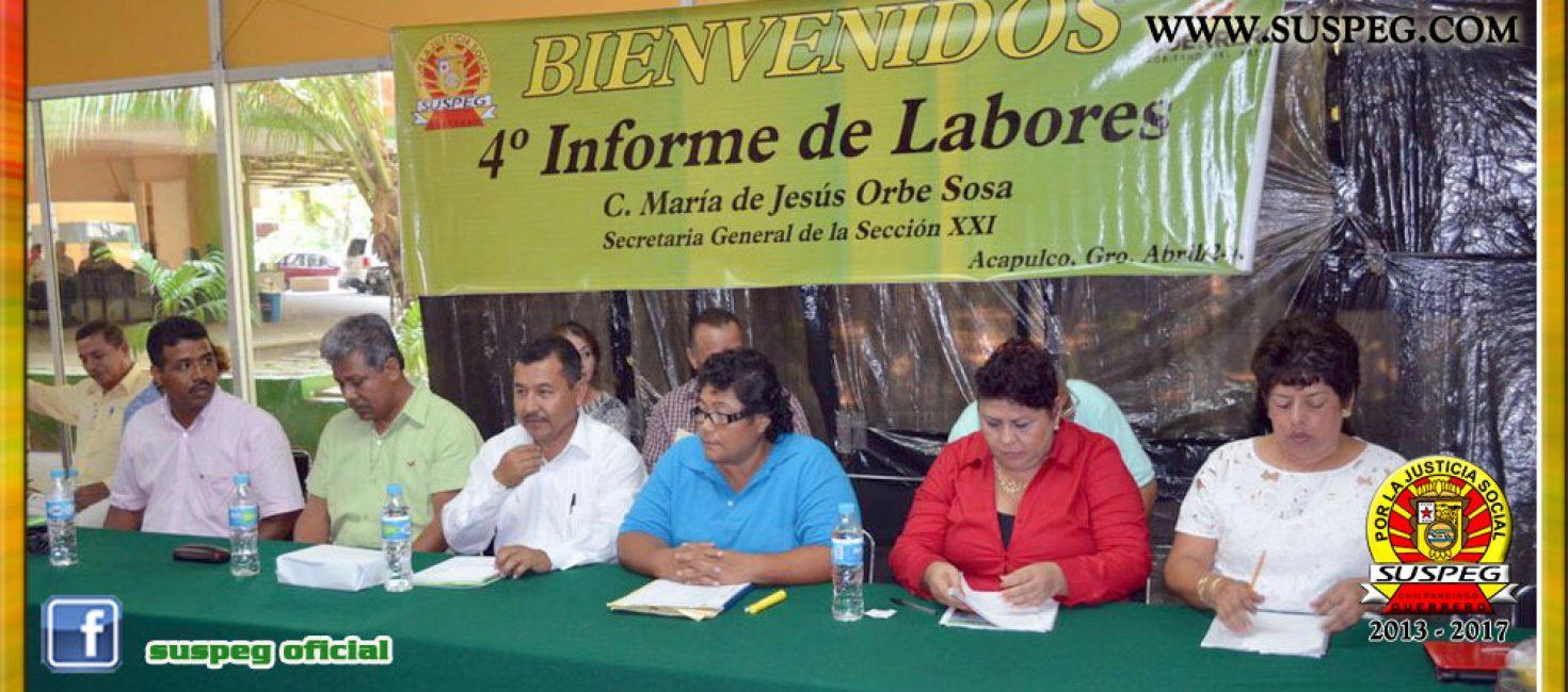4to. informe y elección en la Sección XXI de Acapulco