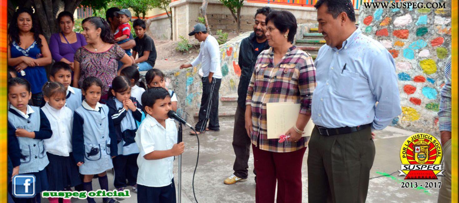 Visita al Jardín de Niños Juan Jacobo Rousseau de Chilpancingo