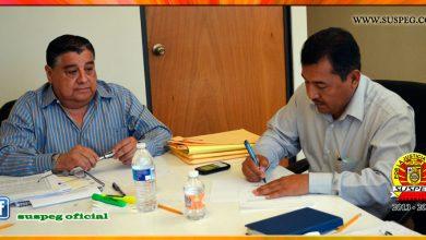 Firma de Minuta de Acuerdos con el Subsecretario de Administración y con Director de Personal
