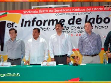 Primer Informe de Labores y Gestión Sindical del Secretario General del SUSPEG