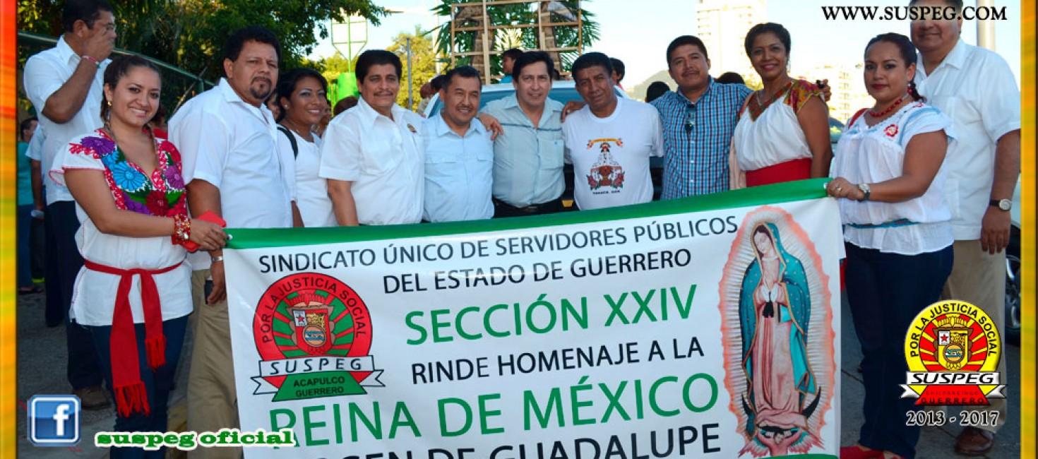 Peregrinación en honor a la Virgen de Guadalupe