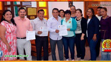Entrega del Pliego Petitorio al Presidente Municipal de Eduardo Neri