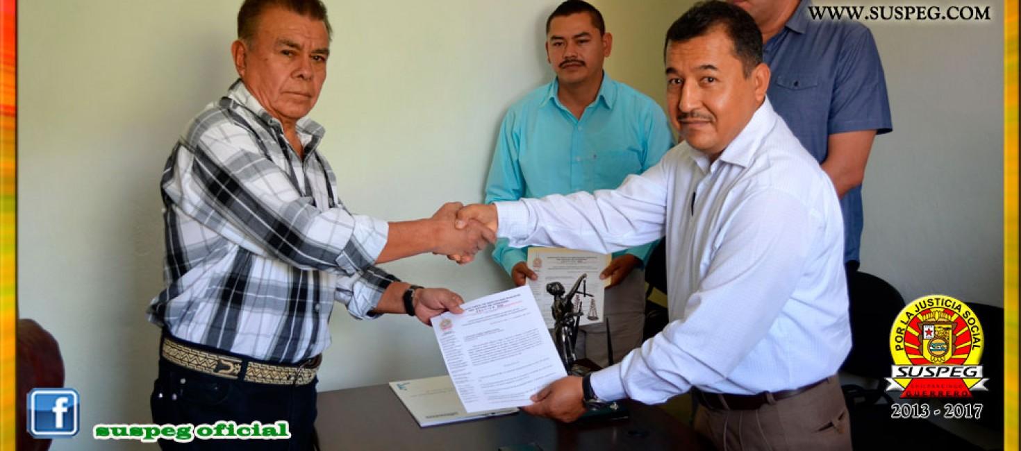 Entrega del Pliego Petitorio 2015 al Presidente Municipal de Leonardo Bravo