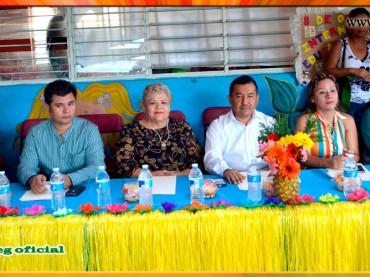 Festejo del Día de la Primavera en el Jardín de Niños Juan de la Barrera de Acapulco