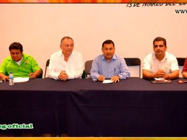 Reunión con el Presidente Municipal de Acapulco y los Secretarios Generales de las Secciones XIX, XXIV, XXXV Y LVI del SUSPEG