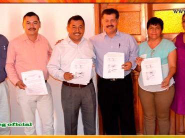 Firma de Minuta de Acuerdos con el Presidente del Municipio de Eduardo Neri