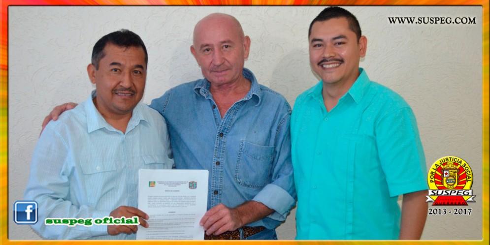 Firma de la Minuta de Acuerdos con el Presidente del Municipio de Leonardo Bravo