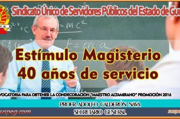 Condecoración Maestro Altamirano promoción 2016