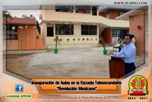 Inauguración-Aulas-Escuela-Telesecundaria-Revolución-Mexicana-suspeg-2