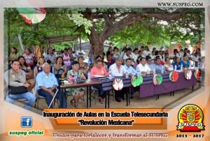 Inauguración-Aulas-Escuela-Telesecundaria-Revolución-Mexicana-suspeg-4