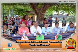 Inauguración-Aulas-Escuela-Telesecundaria-Revolución-Mexicana-suspeg-5