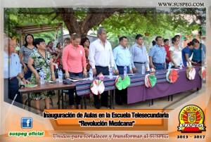 Inauguración-Aulas-Escuela-Telesecundaria-Revolución-Mexicana-suspeg-7