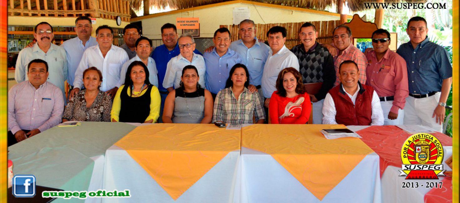 Reunión de Trabajo y Convivencia con los Secretarios Generales Seccionales de la Región Centro