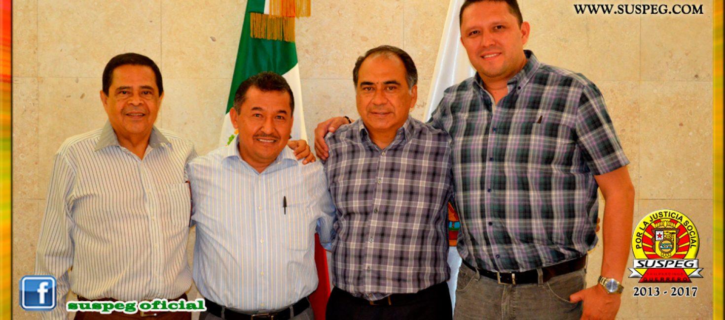 Reunión con el Lic. Héctor Astudillo Flores, Gobernador del Estado