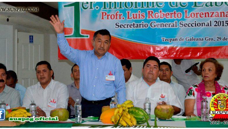 Primer Informe de Actividades del Secretario General de la Sección VIII del SUSPEG