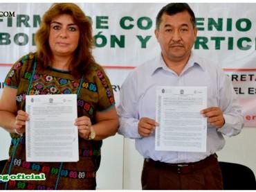 Firma del Convenio de Colaboración Interinstitucional entre el SUSPEG y la Secretaría de Cultura