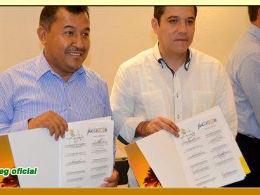 Firma de la Minuta de Acuerdos con el Presidente Municipal de Acapulco