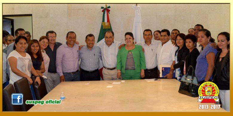 Reunión con el Gobernador del Estado y el Secretario de Finanzas y Administración