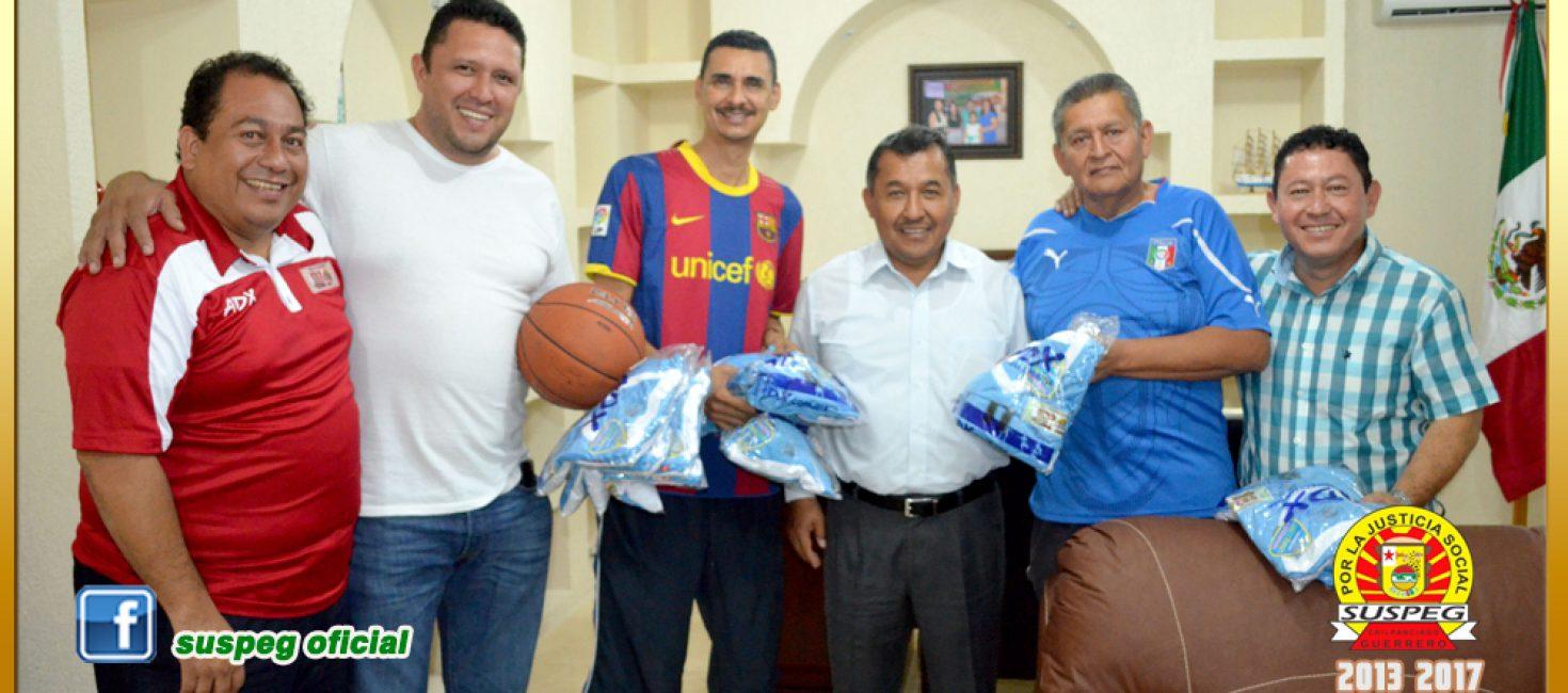 Entrega de Uniformes al Equipo de Basquetbol del Comité Central Ejecutivo del SUSPEG