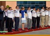 Honores e Izamiento a la Bandera Nacional en Palacio de Gobierno