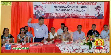 Clausura de la Generación 2013-2016 del J.N. Valeriana J. Nava de la localidad de Jolotichán