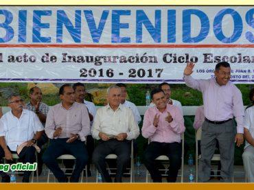 Acto de Inauguración del Ciclo Escolar 2016-2017