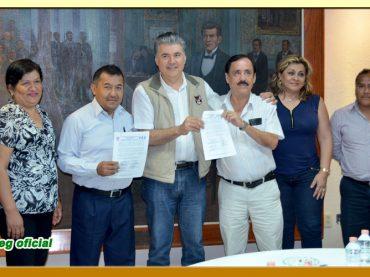 Firma de la Minuta de Acuerdos con el Presidente Municipal de Chilpancingo