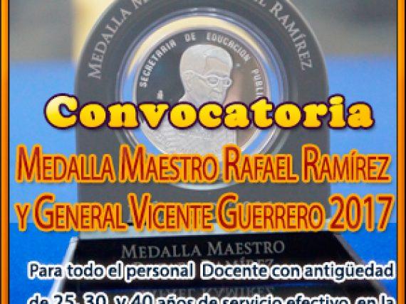 Convocatoria Medalla al Personal Docente 25, 30 y 40 años de Servicio efectivo
