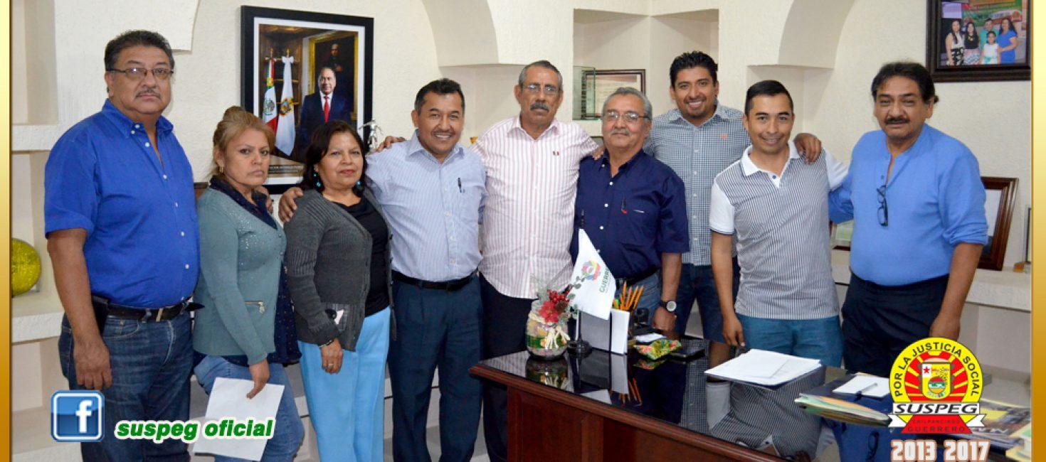 Reunión con el Director General de Actividades Cívicas del Gobierno del Estado.