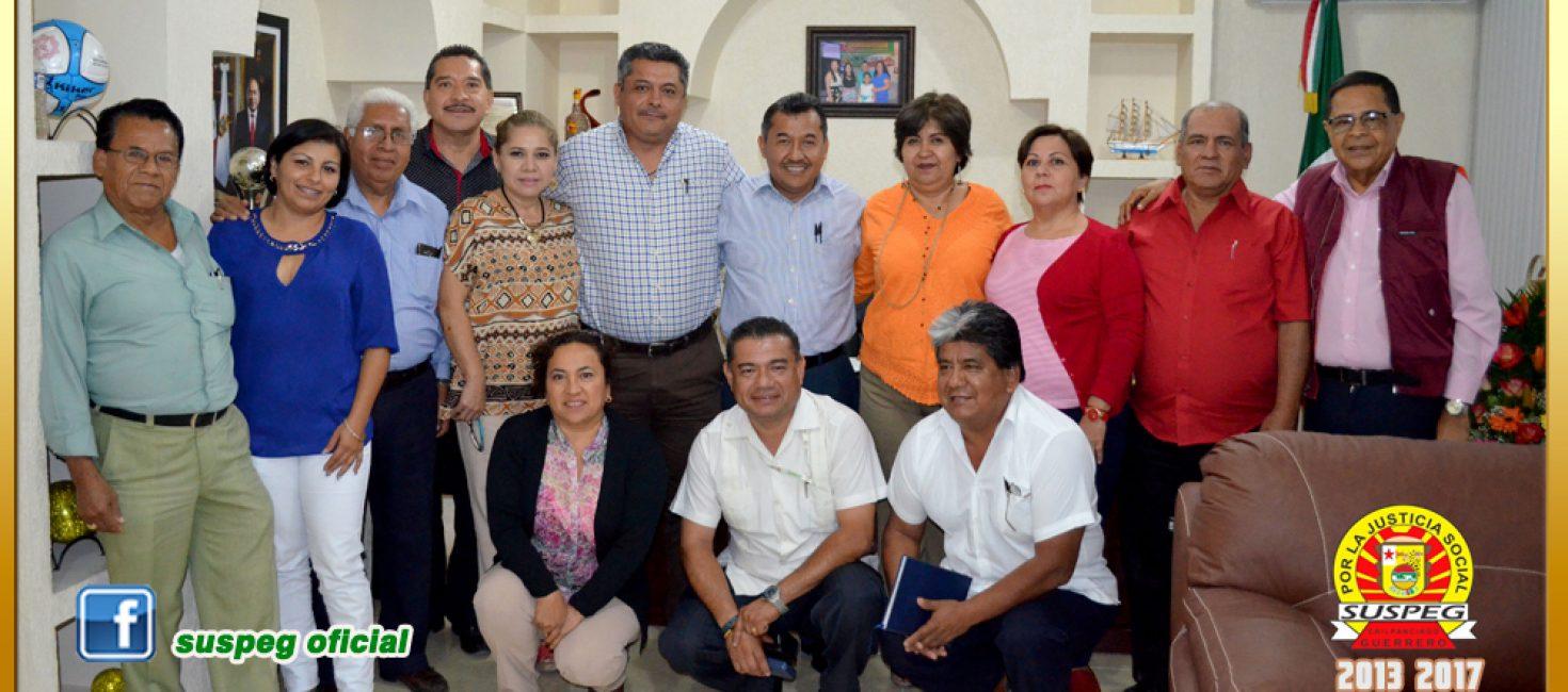 Reunión con el secretario General de la Sección VII e integrantes del Comité Ejecutivo Seccional.