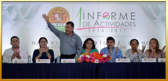 Primer Informe de Actividades de la Secretaria General de la Sección XXXV del SUSPEG