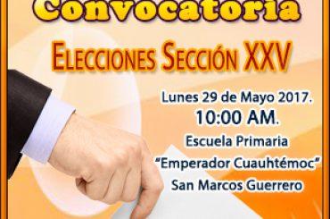 Convocatoria Sección XXV Suspeg