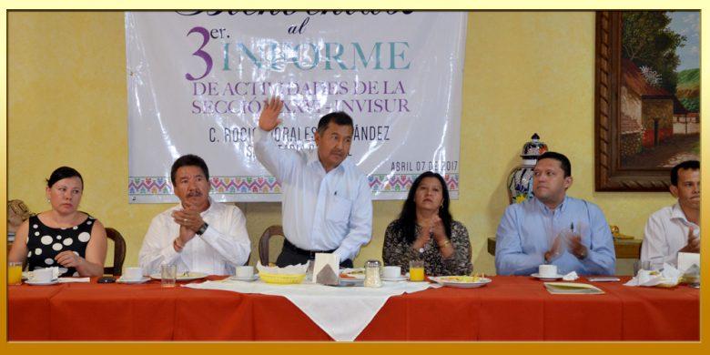 Tercer Informe de Actividades de la Secretaria General de la Sección XXVI del SUSPEG.