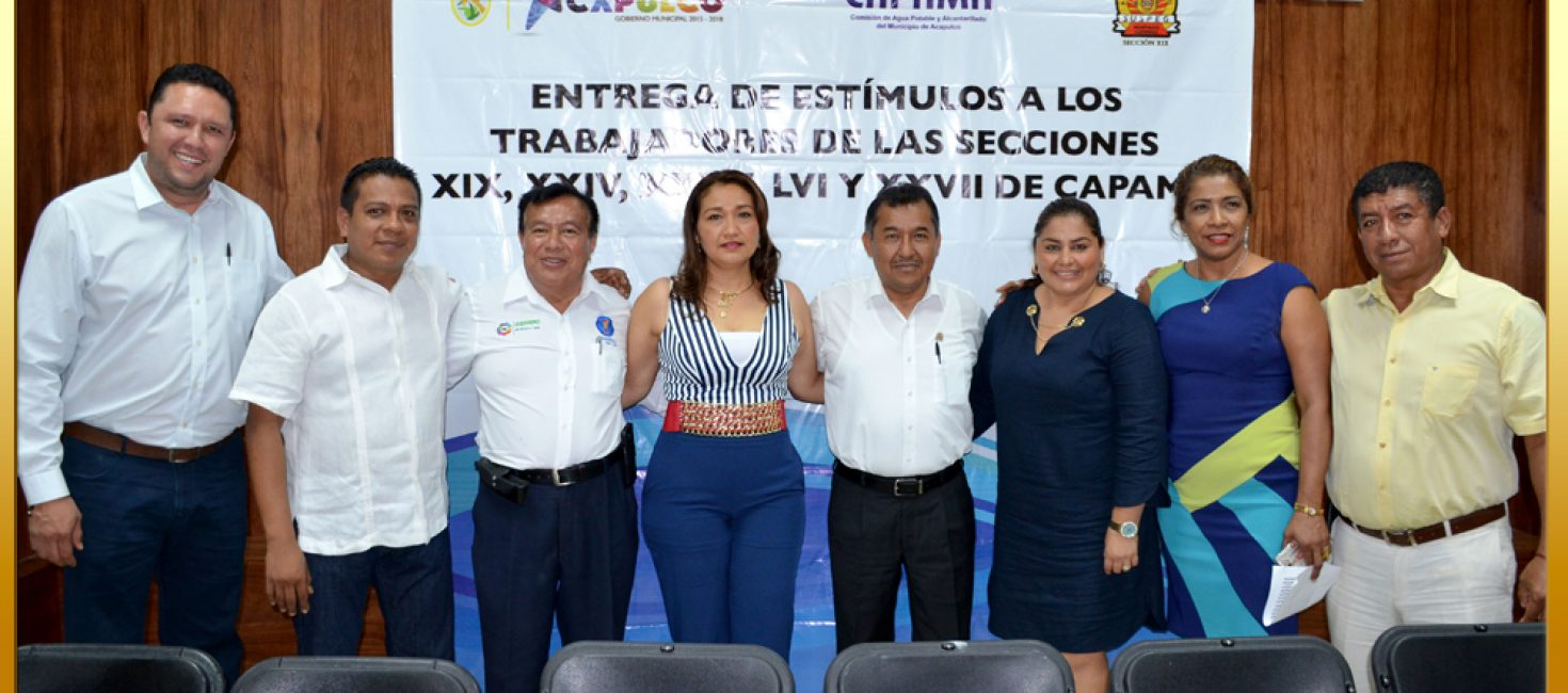 Entrega de Estímulos a la Permanencia a Trabajadores del Ayuntamiento de Acapulco y CAPAMA.