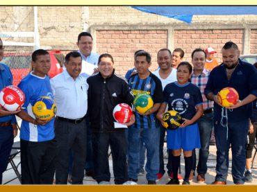 Inauguración del Torneo Relámpago de Futbol Varonil y Femenil de la Sección LV del SUSPEG.