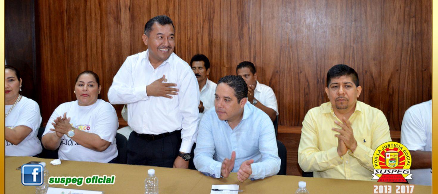 Firma de la Minuta de Acuerdos con el Presidente Municipal de Acapulco.