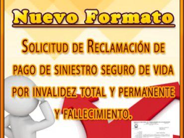 Formato de solicitud de Reclamación de pago