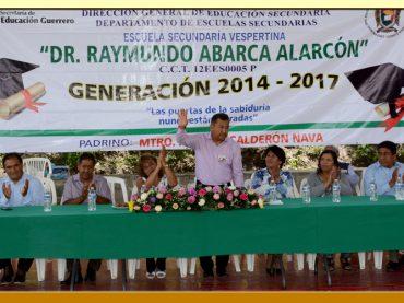 """Ceremonia de Clausura de la Escuela Secundaria Vespertina """"Dr. Raymundo Abarca Alarcón"""""""