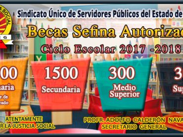 Becas Sefina Ciclo Escolar 2017 – 2018