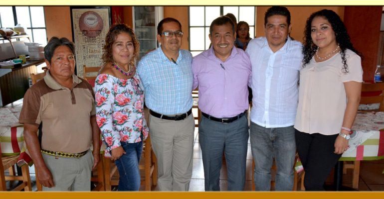 Reunión con el Presidente Municipal de Tixtla.