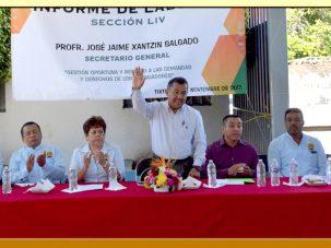 Cuarto Informe y Elección en la Sección LIV del SUSPEG.