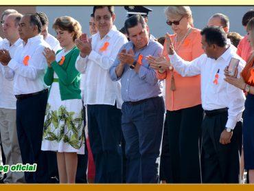 Homenaje e Izamiento de la Bandera Nacional en Palacio de Gobierno.