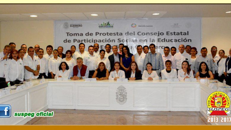 Toma de Protesta del Consejo Estatal de Participación Social en la Educación en el Estado de Guerrero.