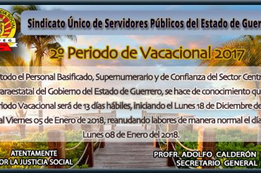 2º Periodo Vacacional 2017
