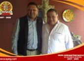 Primer encuentro del secretario general del SUSPEG y el Director General del Colegio de Bachilleres del Estado de Guerrero