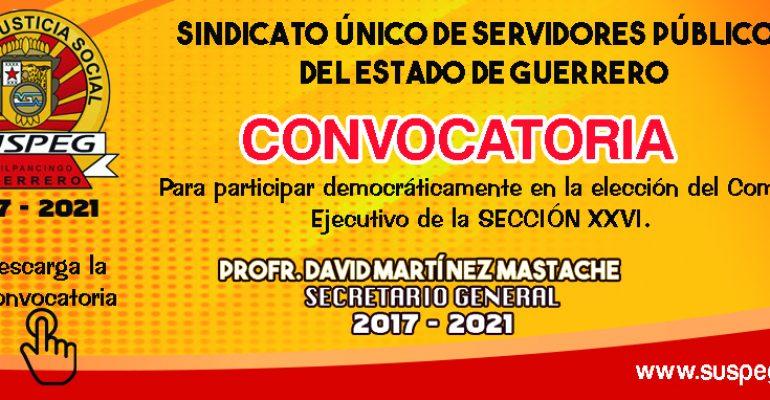 Convocatoria para la elección de la sección XXVI.