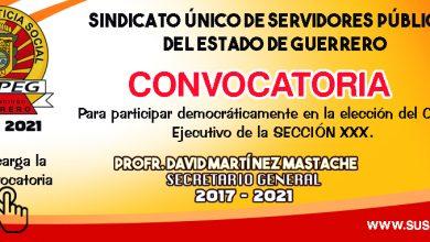 Convocatoria para Elección del Comité Sección XXX.