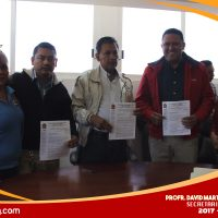 Entrega del Pliego Petitorio para este 2018 al Presidente Municipal de Eduardo Neri, Pablo Higuera Fuentes.
