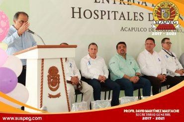 Invitado especial en la entrega de equipo a hospitales del ISSSTE.