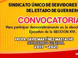 Convocatoria para participar en la elección del comité de la sección XVI.